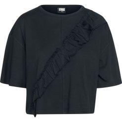Bluzki damskie: Urban Classics Ladies Short Oversize Volant Tee Koszulka damska czarny
