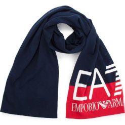 Szal EA7 EMPORIO ARMANI - 285568 8A311 54035 Black Iris/Tango Red. Niebieskie szaliki damskie EA7 Emporio Armani, z bawełny. Za 409,00 zł.