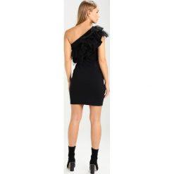 Sukienki hiszpanki: Noisy May Petite NMLAILA ONE SHOULDER SHORT DRESS Sukienka etui black