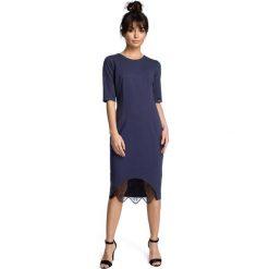 ALESSANDRA Sukienka z wycięciem i wstawką z koronki - niebieska. Niebieskie sukienki koronkowe marki numoco, na imprezę, s, w kwiaty, sportowe, sportowe. Za 154,90 zł.