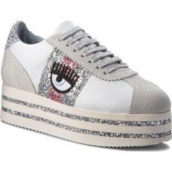 Sneakersy CHIARA FERRAGNI - 18AI-CF2100 White. Białe sneakersy damskie Chiara Ferragni, z materiału. W wyprzedaży za 1059,00 zł.