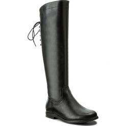 Oficerki JENNY FAIRY - WS16015-10 Czarny. Czarne buty zimowe damskie marki Jenny Fairy, ze skóry ekologicznej, na obcasie. Za 139,99 zł.