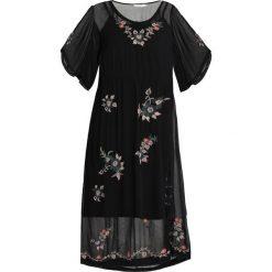 Cream CAMILY DRESS Długa sukienka pitch black. Czarne długie sukienki marki Cream, z materiału, z długim rękawem. Za 589,00 zł.