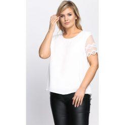 Biała Bluzka Lacking. Szare bluzki nietoperze marki TOMMY HILFIGER, m, z nadrukiem, z bawełny, casualowe, z okrągłym kołnierzem. Za 49,99 zł.