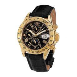 """Zegarki męskie: Zegarek """"AB-8110-GOLD-B-L"""" w kolorze czarno-złotym"""
