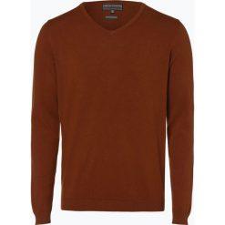 Finshley & Harding - Sweter męski, brązowy. Czarne swetry klasyczne męskie marki Finshley & Harding, w kratkę. Za 129,95 zł.