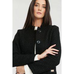 Płaszcze damskie: Czarny Płaszcz Melancholy Heart