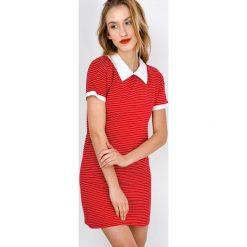 Sukienki: Sukienka w paski z kołnierzykiem