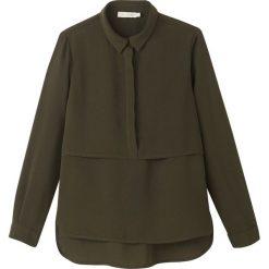 Bluzki damskie: Bluzka, kołnierzyk polo, tułów gładki, długi rękaw