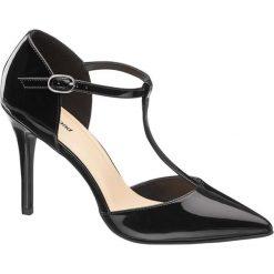 Szpilki damskie Graceland czarne. Czarne szpilki marki Graceland, z lakierowanej skóry. Za 99,90 zł.
