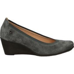 Czółenka - 123 CAM GRIG. Szare buty ślubne damskie Venezia, ze skóry, na koturnie. Za 169,00 zł.