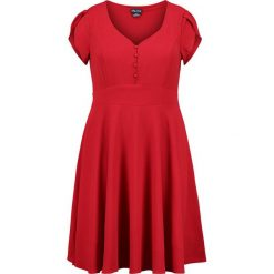 City Chic DRESS SWEET BUTTON Sukienka letnia red rose. Czerwone sukienki letnie City Chic, z elastanu. Za 379,00 zł.