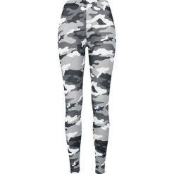 Spodnie damskie: Urban Classics Ladies Camo Leggings Legginsy snow camo