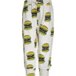 Spodnie chłopięce: Småfolk PANTS WITH BURGER Spodnie treningowe cream