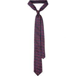 Krawat Granatowy Paisley. Niebieskie krawaty męskie LANCERTO, paisley, z mikrofibry, eleganckie. Za 79,90 zł.