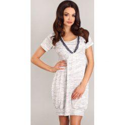 Koszula nocna dla ciężarnych i karmiących Carmel 2. Szare bielizna ciążowa Astratex, z dzianiny, moda ciążowa. Za 126,99 zł.