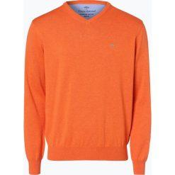 Swetry klasyczne męskie: Fynch Hatton – Sweter męski, pomarańczowy