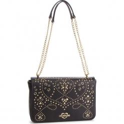 Torebka LOVE MOSCHINO - JC4123PP17LR000A Nero/Galv.Oro. Czarne torebki klasyczne damskie Love Moschino, ze skóry ekologicznej, zdobione. Za 839,00 zł.