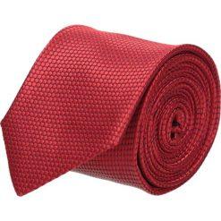 Krawaty męskie: krawat platinum czerwony classic 200