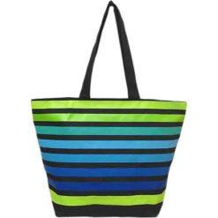 """Torba plażowa """"Playa"""" w kolorze niebiesko-zielonym - 35 x 58 x 23 cm. Niebieskie torby plażowe Le Comptoir de la Plage, z tworzywa sztucznego. W wyprzedaży za 38,95 zł."""