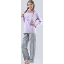 Damska piżama Rabbit. Szare piżamy damskie Astratex, z napisami, z bawełny. Za 103,99 zł.
