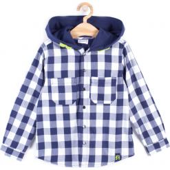 Koszula. Niebieskie koszule chłopięce z długim rękawem marki LONGBOARD, z bawełny, z kapturem. Za 59,90 zł.
