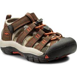 Sandały KEEN - Newport H2 1018259 Dark Earth/Spicy Orange. Brązowe sandały chłopięce Keen, z materiału. W wyprzedaży za 189,00 zł.