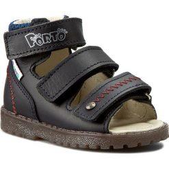 Sandały MRUGAŁA - 1199-77 Granat. Niebieskie sandały chłopięce Mrugała, z materiału. W wyprzedaży za 149,00 zł.