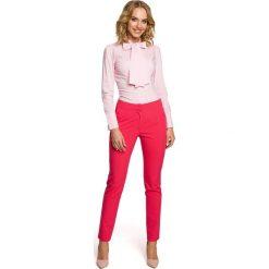 IZABELLA Koszula z kokardą i długim rękawem - różowa. Czerwone koszule damskie w kratkę Moe, z elastanu, eleganckie, z kokardą, z długim rękawem. Za 119,00 zł.