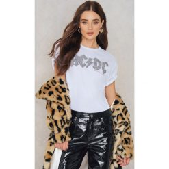 T-shirty damskie: Amplified T-shirt z diamentowym nadrukiem logo ACDC – White