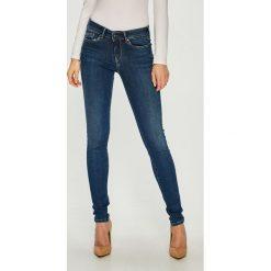 Pepe Jeans - Jeansy Pixie. Niebieskie jeansy damskie rurki Pepe Jeans, z bawełny. Za 399,90 zł.