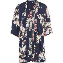 Żakiet w kwiatowy deseń bonprix ciemnoniebieski w kwiaty. Brązowe marynarki i żakiety damskie marki bonprix. Za 89,99 zł.