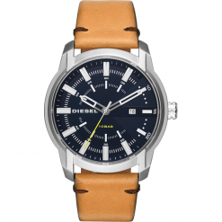 Zegarek DIESEL - Armbar DZ1847 Brown/Silver. Brązowe zegarki męskie Diesel. Za 589,00 zł.