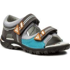 Sandały BARTEK - 19128-0TF Niebieski Szary. Niebieskie sandały chłopięce Bartek, z materiału. W wyprzedaży za 159,00 zł.