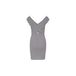 Sukienki krótkie Only  VESTIDO. Białe sukienki hiszpanki ONLY, l, z krótkim rękawem, mini. Za 146,36 zł.