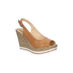 Sandały Jezzi  Sandały na koturnie  SA70-4. Brązowe rzymianki damskie Jezzi, na koturnie. Za 69,99 zł.