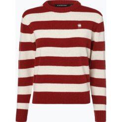 G-Star - Sweter damski – Doolin, czerwony. Czerwone swetry klasyczne damskie marki G-Star, l, z wełny. Za 479,95 zł.