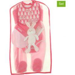 Pajacyki niemowlęce: 5-częściowy zestaw w kolorze jasnoróżowym