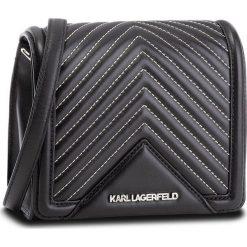 Torebka KARL LAGERFELD - 86KW3021 Black 999. Czarne listonoszki damskie KARL LAGERFELD, ze skóry, zdobione. W wyprzedaży za 849,00 zł.