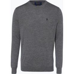 Polo Ralph Lauren - Męski sweter z wełny merino – Slim Fit, szary. Szare swetry klasyczne męskie marki Polo Ralph Lauren, m, z dzianiny, polo. Za 499,95 zł.