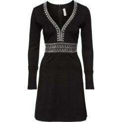 Sukienka na party bonprix czarny. Czarne sukienki balowe marki bonprix, na imprezę, z aplikacjami. Za 149,99 zł.