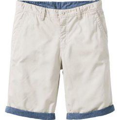 Spodenki i szorty męskie: Bermudy chino z wywiniętymi nogawkami Regular Fit bonprix naturalny