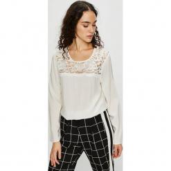 Jacqueline de Yong - Bluzka. Szare bluzki z odkrytymi ramionami Jacqueline de Yong, s, z bawełny, z okrągłym kołnierzem. Za 89,90 zł.