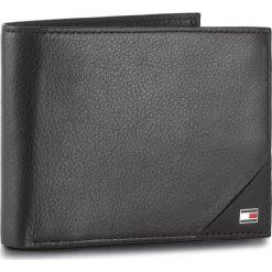 Portfele męskie: Duży Portfel Męski TOMMY HILFIGER – Th Diagonal Cc Flap & Coin Pocket AM0AM02858 002