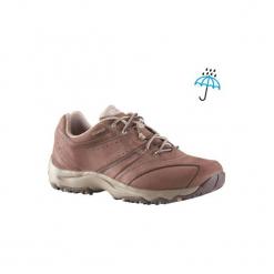 Skórzane buty damskie do szybkiego marszu Nakuru Novadry wodoodporne,brąz/beż. Brązowe buty do fitnessu damskie marki NEWFEEL, z gumy. Za 299,99 zł.