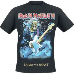 Iron Maiden Eddie On Bass T-Shirt czarny. Czarne t-shirty męskie Iron Maiden, l. Za 74,90 zł.