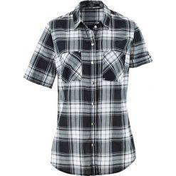 Bluzka, krótki rękaw bonprix czarno-biały w kratę. Białe bluzki damskie bonprix, z krótkim rękawem. Za 54,99 zł.