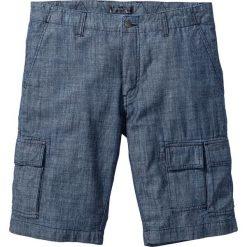 Bermudy bojówki Loose Fit bonprix ciemnoniebieski. Niebieskie bermudy męskie marki ARTENGO, l, z elastanu. Za 109,99 zł.