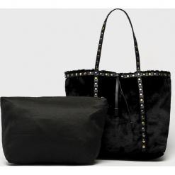 Answear - Torebka. Szare torebki klasyczne damskie ANSWEAR, z materiału, duże. W wyprzedaży za 79,90 zł.