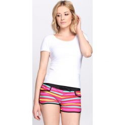 Biały T-shirt Ooh La La. Białe t-shirty damskie Born2be, xl, z okrągłym kołnierzem. Za 24,99 zł.